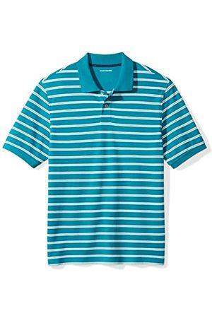 Amazon Regular-fit Striped Cotton Pique Polo Shirt Teal