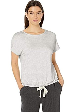Amazon Lightweight Lounge Terry Short-Sleeve Tie-Waist Shirt Night