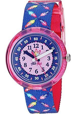 Flik Flak Girls' Analogue Quartz Watch with Textile Strap FPNP016