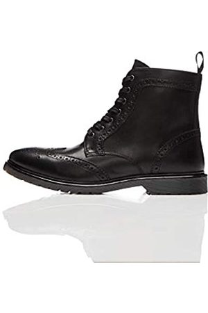 find. Leather Cleated Brogue Biker Boots, )