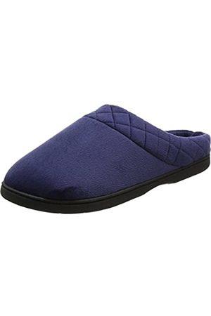 Dearfoams Women's Velour Closed Back w/Embr Open Slippers, (Peacoat)