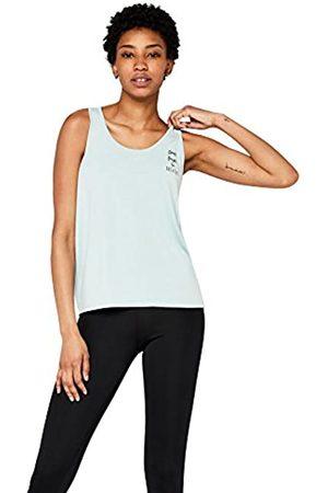 AURIQUE Amazon Brand - Women's Open Back Slogan Yoga Vest, 10