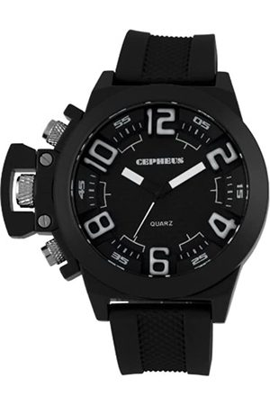 CEPHEUS Men's Quartz Watch with Dial Analogue Display and Silicone Strap CP901-622A