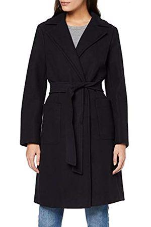 Dorothy Perkins Women's NVY Patch Pockt Wrap Coat
