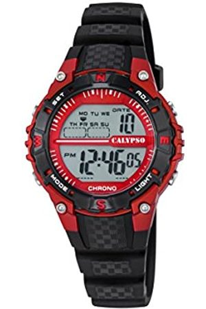 Calypso Unisex Digital Watch with LCD Dial Digital Display and Plastic Strap K5684/6