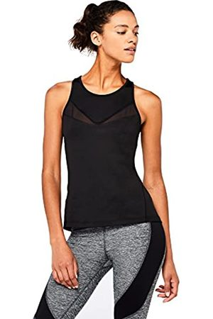 AURIQUE Amazon Brand - Women's High Neck Mesh Panel Sports Vest, 12