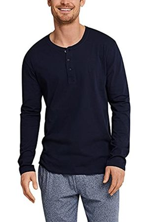 Schiesser Herren Mix & Relax Langarmshirt Knopfleiste Pyjama Top