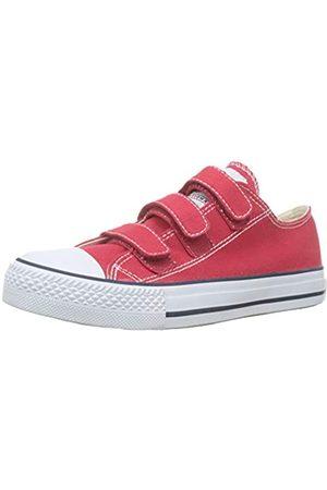 victoria Unisex Adults' Tribu Velcros Lona Trainers, (Rojo 40)