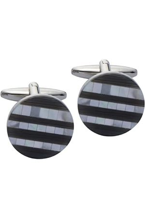 The Cufflink Factory Mosaic Mother of Pearl and Dark Cats Eye Cufflinks