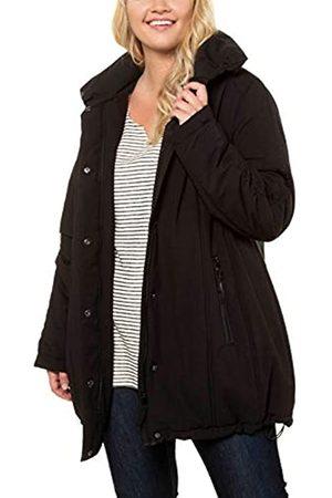 Ulla Popken Women's Basic-Shirt, Knopfleiste, Regular, Rundhalsausschnitt Coat