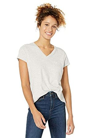 Goodthreads Vintage Cotton Pocket V-Neck T-Shirt Pale Heather