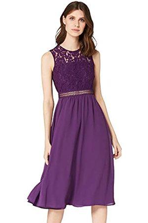 TRUTH & FABLE Amazon Brand - Women's Maxi Chiffon Dress, 10
