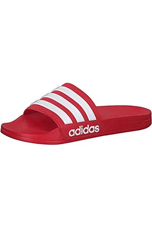 adidas Men's Adilette Shower Beach & Pool Shoes, (Escarl/Ftwbla/Escarl 000)
