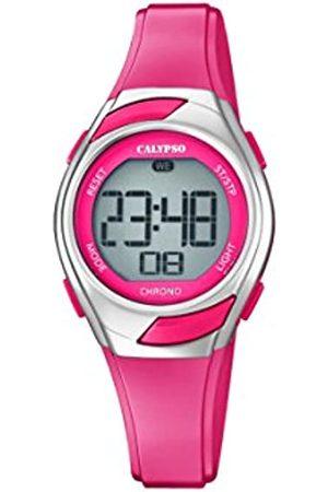 Calypso Womens Digital Quartz Watch with Plastic Strap K5738/4