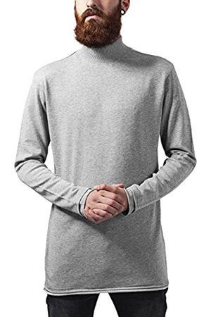 Urban Classics Men's Long Open Edge Turtleneck Crew Sweatshirt