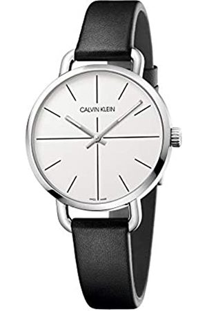 Calvin Klein Unisex Adult Analogue-Digital Quartz Watch with Leather Strap K7B231CY