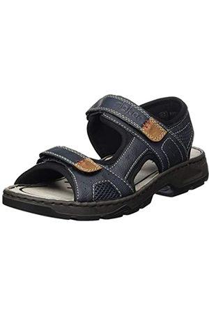Rieker Men's Frühjahr/Sommer Closed Toe Sandals, (Lake/Schwarz/Atlantis/Mandel 15)
