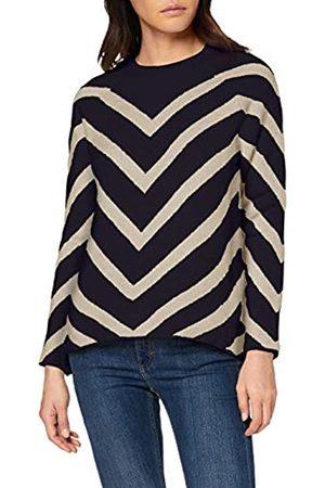 ONLY Women's Onleliza L/s Pullover Cc KNT Jumper, (Night Sky Detail: W/Oatmeal Melange)