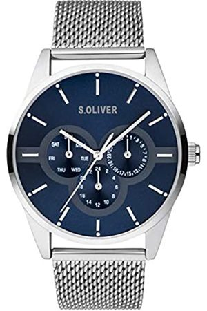 s.Oliver Mens Multi dial Quartz Watch with Stainless Steel Strap SO-3853-MM