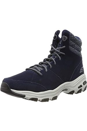Skechers Women's D'Lites-CHILL Flurry Ankle Boots, (Navy Suede/Knit Nvy)