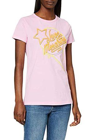 Love Moschino Women's T-Shirt_neon Sign Ice Cream & Logo Print