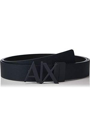 Armani Men's Everyday Logo Belt, (Navy/ -Navy/ 03739)