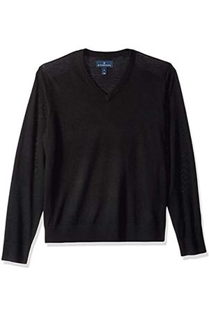 Buttoned Down Men's Italian Merino Wool Lightweight V-Neck Jumper Medium