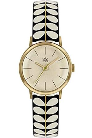 Orla Kiely Unisex Adult Analogue Classic Quartz Watch with Leather Strap OK2266