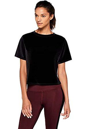 AURIQUE Amazon Brand - Velour Loose Fit Cropped T-Shirt, 10