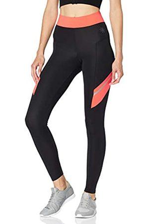 AURIQUE Amazon Brand - Women's Colour Block Sports Leggings, 10