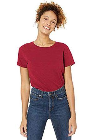 Goodthreads Vintage Cotton Roll-sleeve Open Crew T-shirt Deep