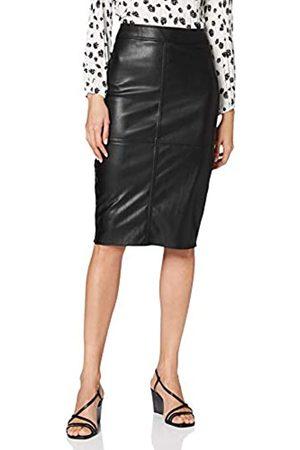 warehouse Women's Seamed PU Pencil Skirt