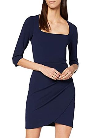 Dorothy Perkins Women's Square Neck Ruched Side Bodycon Dress