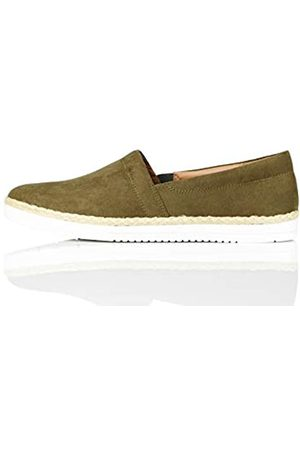 find. Jute Slip On Espadrille Wedge Sandal, (Khaki)