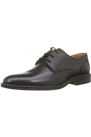 Tommy Hilfiger Herren ESSENTIAL LEATHER MIX SHOE Oxfords, Schwarz ( 990)