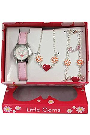 Ravel Little Gems' Hearts and Flowers Watch and Silver Plated Jewellery Set.