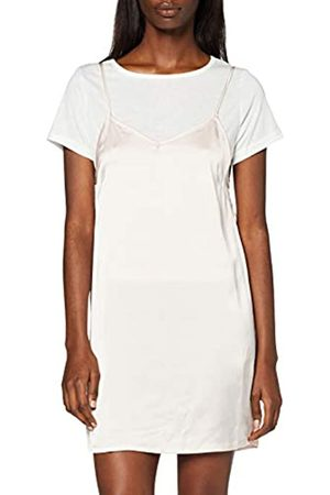 Boohoo Women's Lucy 2 in 1 T-Shirt with Satin Slip Dress