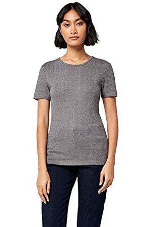 MERAKI Women's Rib Crew Neck T-Shirt