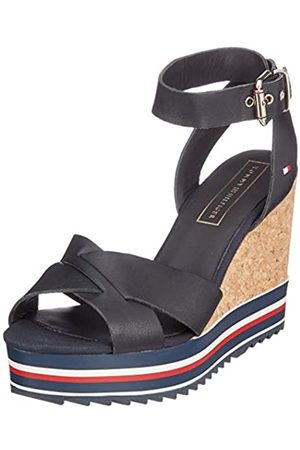 Tommy Hilfiger Women's Colored Stripes Wedge Platform Sandals, (Midnight 403)