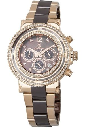 Burgmeister Kardamena Women's Quartz Watch with Dial Chronograph Display and Rose Stainless Steel Rose Plated Bracelet BM215-398