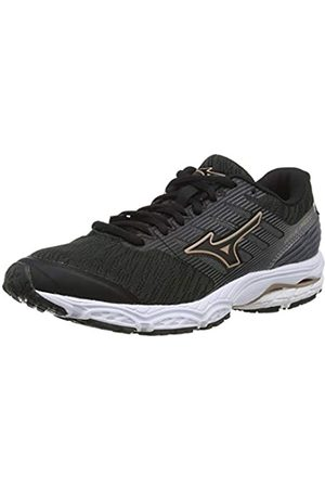Mizuno Women's Wave PRODIGY 2 Running Shoes, (Blk/Blk/Champane 09)