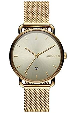 MELLER Unisex Adult Analogue Quartz Watch with Stainless Steel Strap W3OO-2GOLD