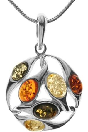 InCollections 241A200890890 Amber Sterling 925 Pendant Necklace