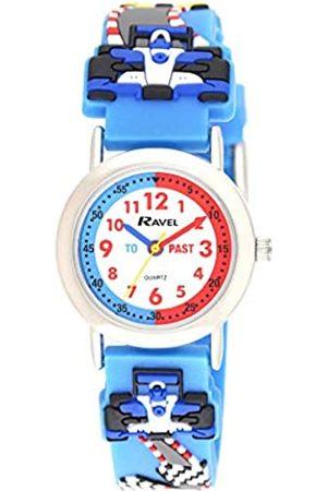 Ravel Children's 3D Blue Racing Car Time Teacher Watch R1513.86