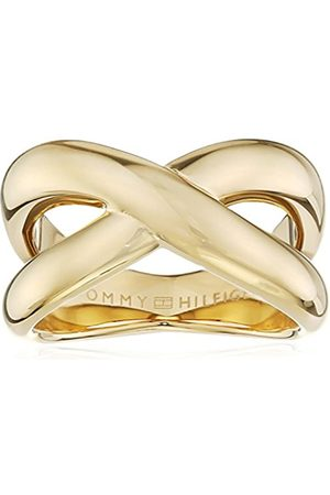 Tommy Hilfiger Women's -Plated Stainless-Steel Smooth Twist Ring - Size E