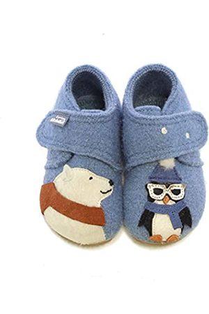 Living Kitzbühel Baby Boys' Babyklett. Eisbär & Pinguin mit Brille Slippers, ( Mountain 0559)