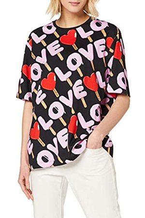 Love Moschino Women's t-Shirt_Allover ice Cream&Logo Prints