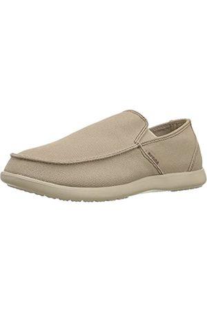 Crocs Men's Santa Cruz Clean Cut Loafer M, (Khaki/Cobblestone)
