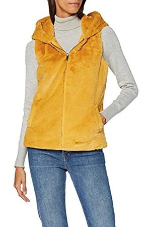 ONLY Women's Onlvida Faux Fur Hooded Waistcoat OTW Outdoor Gilet