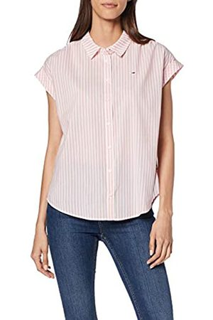 Tommy Jeans Women's Tjw Rolled Up Sleeveless Shirt Sports, (Emberglow/Classic 603)
